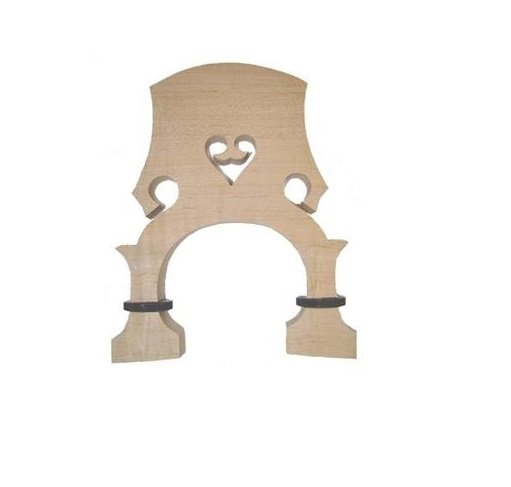 1/2 Size Adjustable Upright Double String Bass Bridge  for Replacement Students Teacher