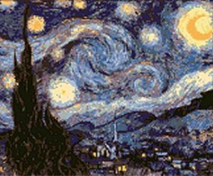 Starry Night in Counted Cross Stitch PDF Pattern