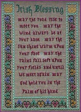 Irish Blessing Cross Stitch Sampler