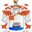 Myers Coat of Arms in Cross Stitch
