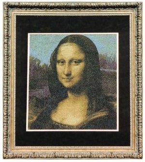 Mona Lisa Finished and Framed Cross stitch