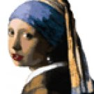 Girl With Pearl Earring Counted Cross Stitch Pattern