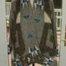 "LINE KNITWEAR ""THE FOLKLORE"" ALPACE MOHAIR BLEND CARDIGAN SWEATER WRAP NEW $595+"