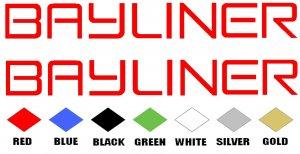 BAYLINER STICKERS BOAT DECALS