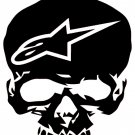 ALPINE  STARS SKULL    VINYL DECALS STICKERS