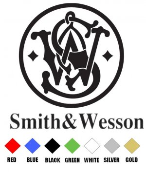 Silver Smith /& Wesson Vinyl Decal