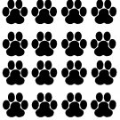 PAW PRINTS DOG ANIMALS  VINYL DECALS STICKERS