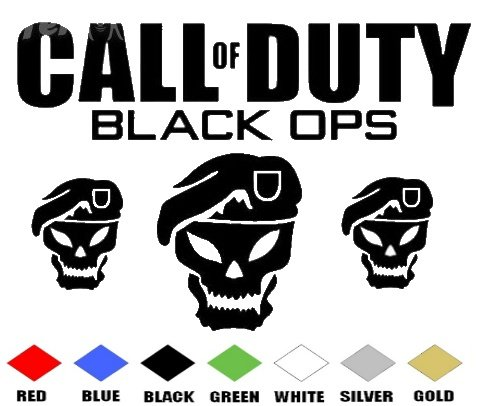 CALL OF DUTY BLACK OPS    VINYL DECALS STICKERS