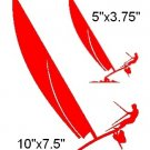 CATAMARMAN   HOBIE  VINYL DECALS STICKERS