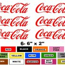 COCA-COLA STICKER DECAL DRINK SODA POP COKE