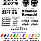 KAWASAKI ZX-7R CHOOSE YOUR COLOR VINYL DECALS STICKERS MOTORCYCLE RACING