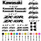 KAWASAKI ZX-10R CHOOSE YOUR COLOR VINYL DECALS STICKERS MOTORCYCLE RACING