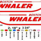 "BOSTON WHALER STICKERS DECALS **PAIR** 18"" ANY COLOR"