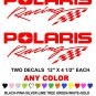POLARIS RACING STICKER DECALS SNOWMOBILE QUAD 4X4 RACE