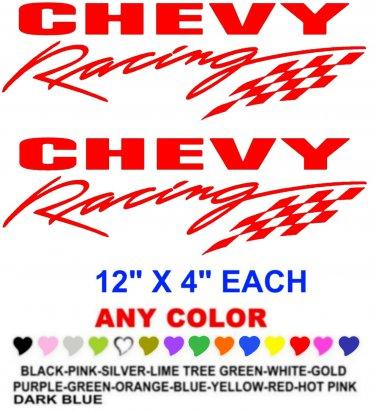 CHEVY RACING STICKER DECALS  RACE