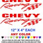 CHEVY RACING STICKER DECALS  RACE