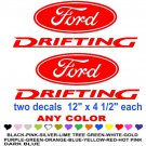 FORD DRIFTING STICKER DECALS  RACE
