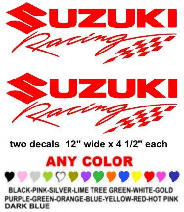 SUZUKI RACING  STICKER DECALS  RACE