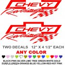 CHEVY RACING 2 STICKER DECALS  RACE