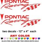 PONTIAC RACING STICKER DECALS  RACE