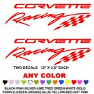 CORVETTE RACING STICKER DECALS  RACE