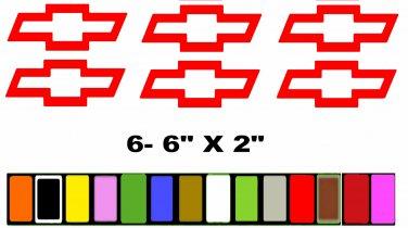 BOWTIE CHEVY CHEVROLET RACE RACING WHEELS HUB  Sticker Decal