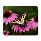 Yellow Butterfly 1 Large Mouse Pad