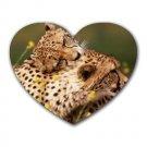 Cheetahs Heart-shaped Mouse Pad