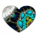 Fractal Pattern 4 Heart-shaped Mouse Pad