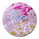 """Colourful Sparkles"" Round Mouse Pad"