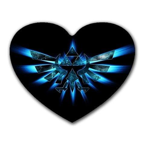 Zelda - Triforce Heart-shaped Mouse Pad
