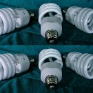 6-CFLs 3 BLOOM & 3 GROW LIGHT BULBS Compact Fluorescent