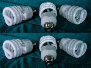 6-CFLs 3 BLOOM & 3 GROW LIGHT BULBS Compact Fluorescent