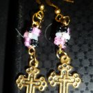 Pink & Black with a Cross