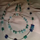 Blue & White Stone Necklace