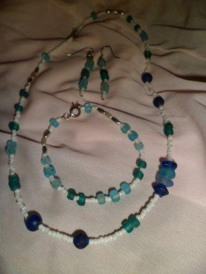 Blue & White Stone Necklace