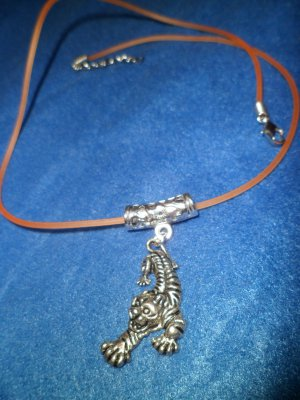 Tiget on a Orange Necklace