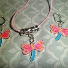 Pink & Blue Dragonfly Set