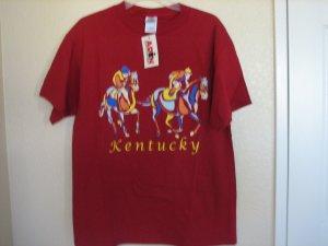 Kentucky Tee Shirt Souvenir T-Shirt Horses