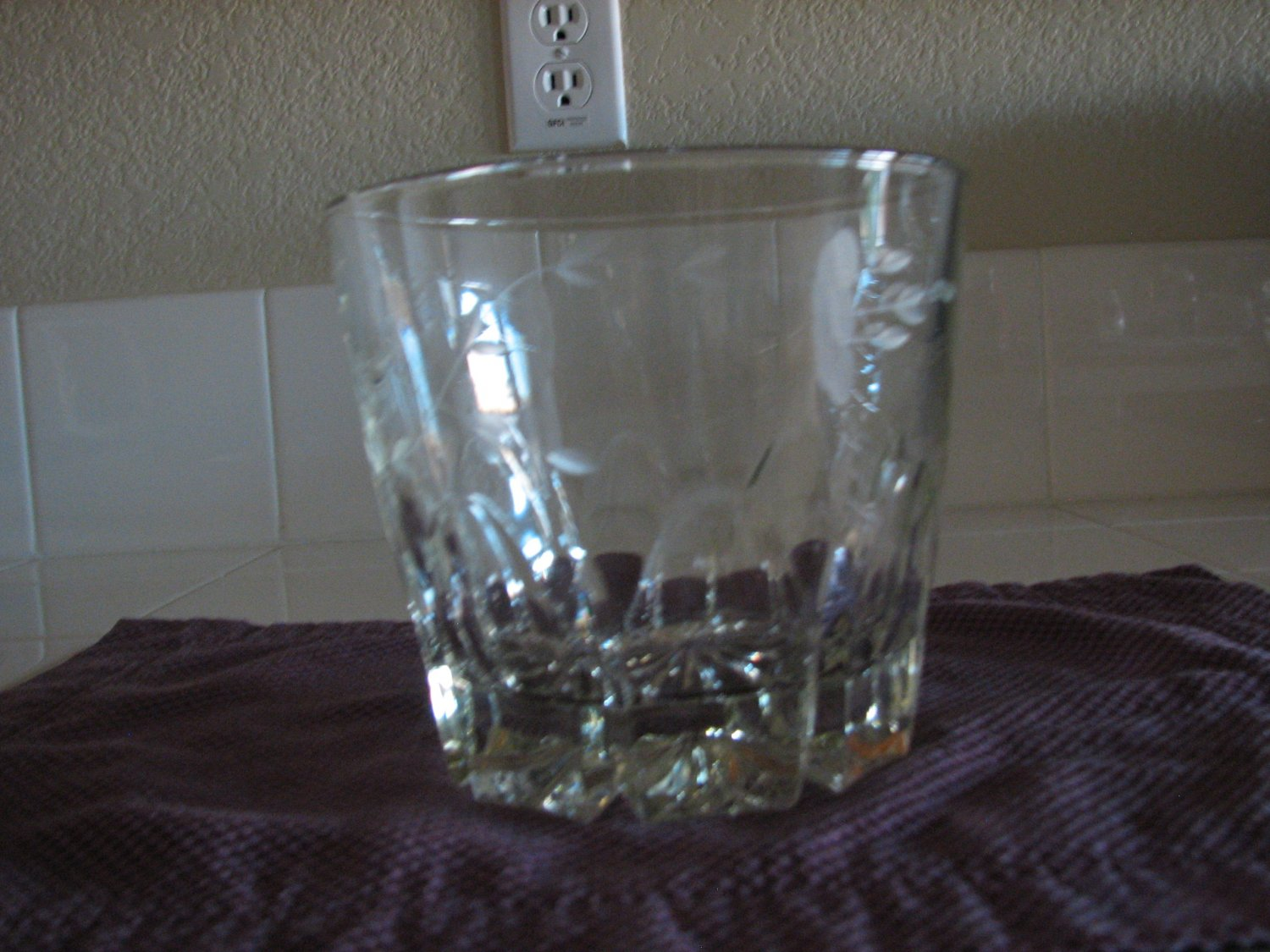 Vintage princess house crystal ice bucket for Princess housse