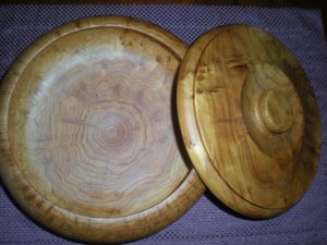 Burl Wood Decorative Bowl with Lid