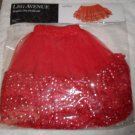 Petticoat Sequin Dot Mini Slip TuTu Red Sparkly Leg Avenue