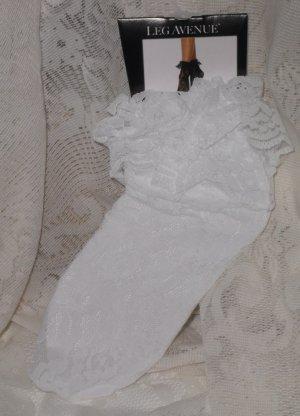 Sheer Lace Anklet Socks White Leg Avenue