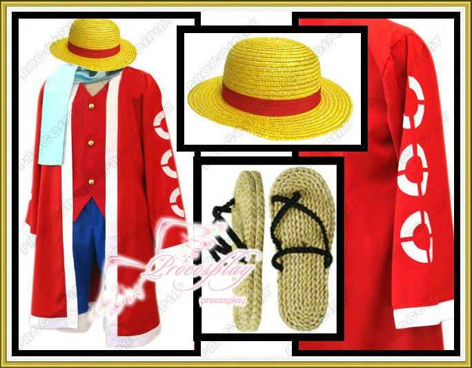 New One Piece Monkey·D·Luffy Cosplay Costume Any Size