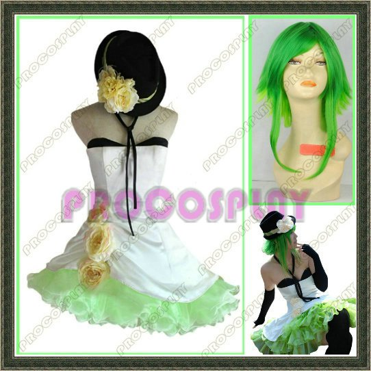 New Vocaloid Gumi Cosplay Costume and wig Any size