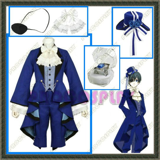 New Kuroshitsuji Black Butler Ciel blue Cosplay Costume