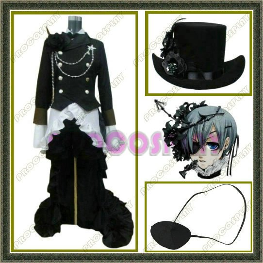 Black Butler-Kuroshitsuji Ciel Cosplay Costume derss