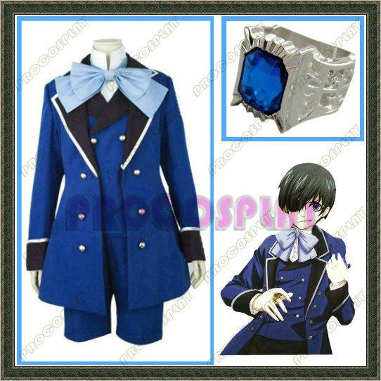 Japan Kuroshitsuji Black Butler Ciel Cosplay Costume