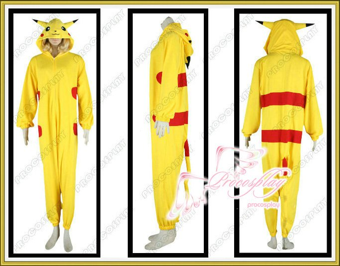 Pokemon Pikachu Cosplay Costume Any Size