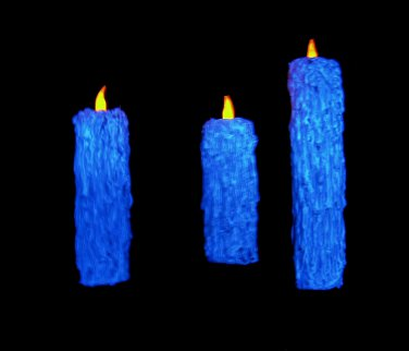 Blue Halloween Floating Candle Prop Illusion Great Hall Harry Potter Decoration